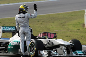 Nico Rosberg, Mercedes, Jerez testing 2011