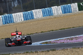 Jenson Button, McLaren, Jerez testing February 2011