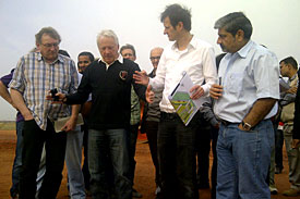 Charlie Whiting visits Delhi circuit, 2011