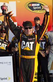 Jeff Burton celebrates winning Duel 2