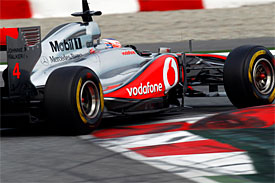 Jenson Button, McLaren, Barcelona testing