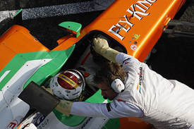 Adrian Sutil, Force India, Catalunya testing 2011