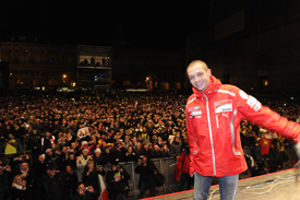 Valentino Rossi at Ducati Night in Bologna