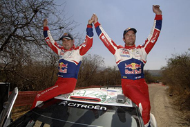 Sebastien Loeb and Daniel Elena celebrate Mexico victory