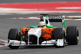 Nico Hulkenberg, Force India, Catalunya testing March 2011