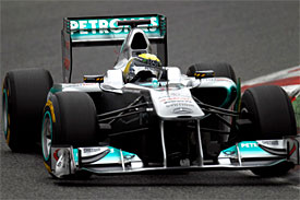 Nico Rosberg, Mercedes, Barcelona testing