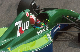 Andrea de Cesaris in the Jordan 191 at Monaco in 1991