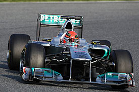 Michael Schumacher, Mercedes, Barcelona testing 2011