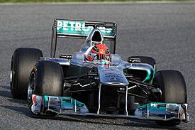 Michael Schumacher, Mercedes, Barcelona testing 2011