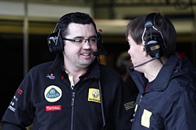 Eric Boullier, Renault, testing, 2011