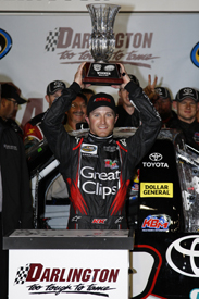 Kasey Kahne wins the Darlington Truck race