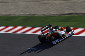 Adrian Sutil, Force India, Catalunya testing