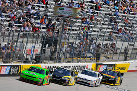 Danica Patrick leads Ryan Truex in the Bristol Nationwide race