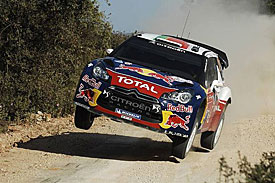 Sebastien Ogier en route to fastest shakedown time on Rally Portugal, 2011