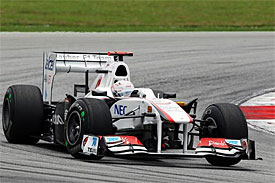 Kamui Kobayashi, Sauber, Malaysian GP