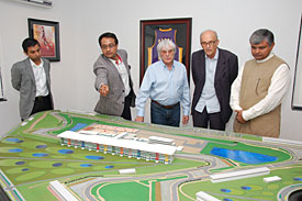 Sameer Gaur shows off the Indian GP venue plans
