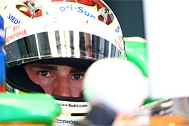 Sutil not worried by di Resta's pace