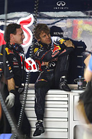 Christian Horner and Sebastian Vettel, Red Bull, China 2011