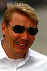 Mika Hakkinen at the 2001 Chinese GP