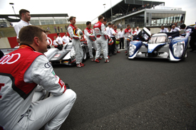 Audi and Peugeot at the Le Mans test day