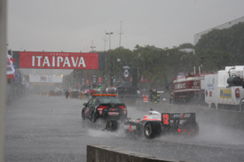 Will Power behind the safety car in Sao Paulo