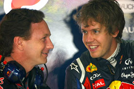 Christian Horner, Sebastian Vettel, Red Bull Racing, 2011