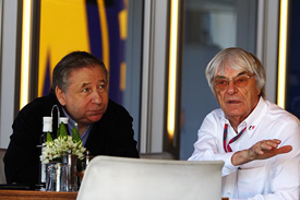 Jean Todt and Bernie Ecclestone
