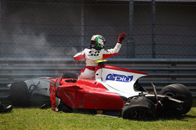 Davide Rigon crashes at Istanbul