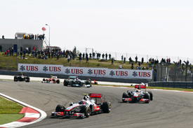 Jenson Button leads Lewis Hamilton in Turkey