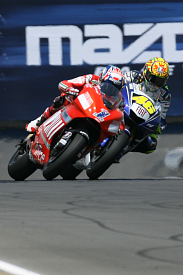 Valentino Rossi Yamaha Casey Stoner Ducati 2008 US Grand Prix