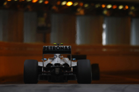 Nico Rosberg, Mercedes, Monaco tunnel 2010