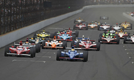 Oriol Servia leads at Indianapolis
