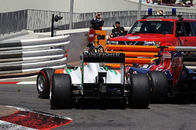 Paul di Resta and Jaime Alguersuari bang wheels in Monaco