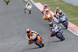 Casey Stoner leads at Catalunya