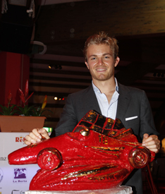 Nico Rosberg with the Bandini Trophy