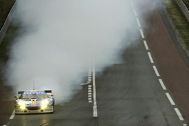 Lotus Evora suffers engine failure at Le Mans, 2011