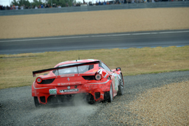 Luxury Ferrari rejoins after McNish incident