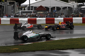 Lewis Hamilton and Mark Webber tangle in Montreal