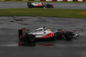 Lewis Hamilton's damaged McLaren in Canada