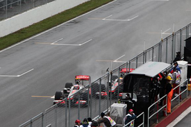 Jenson Button and Lewis Hamilton collide in Montreal