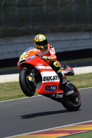 Valentino Rossi tests the 2012 Ducati at Mugello