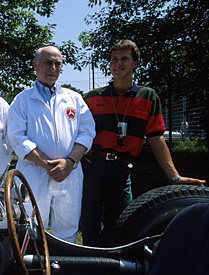 Fangio with Michael Schumacher