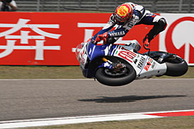 Jorge Lorenzo doesn't crash anywhere near as much as he used to