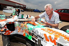Force India unveils its 'Art Car'