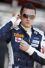 MIkhail Aleshin GP2 Carlin Barcelona 2011