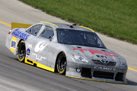 Mike Skinner during the NASCAR fuel injection test at Kentucky