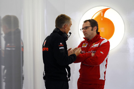 Stefano Domenicali and Martin Whitmarsh