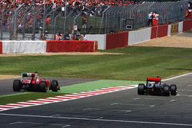 Felipe Massa battles with Lewis Hamilton at Silverstone