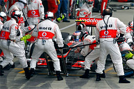 McLaren, Sauber fined for pit incidents