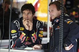 Mark Webber Christian Horner Red Bull 2011 British Grand Prix